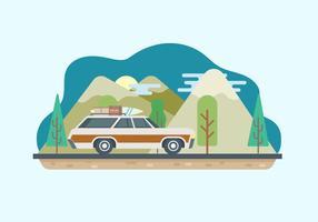 Illustration du voyage par route vecteur