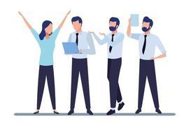 hommes d & # 39; affaires et concept de co-working
