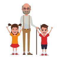 personnages de famille de dessin animé
