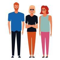 groupe de gens heureux de dessin animé