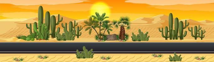 désert avec scène de paysage nature route