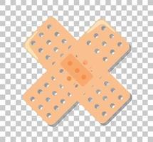 plâtre médical isolé sur fond transparent