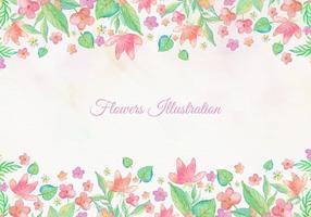 Carte vectorielle gratuite avec conception de cadre floral aquarelle vecteur