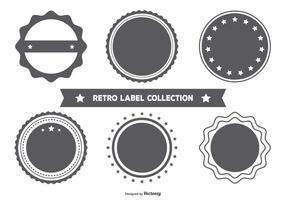 Collection de badge en forme de style vide