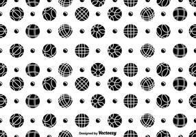 Boules de pétales sans boucle de vecteur et motif d'icônes de balle Pentaque