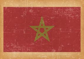 Drapeau grunge du Maroc vecteur