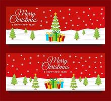 modèles de bannière de noël et nouvel an avec scène d'hiver