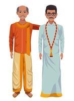 personnages de dessins animés hommes indiens