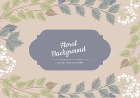 Blue and Neutral Tone Floral Vector Background