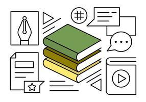 Icônes de livres linéaires