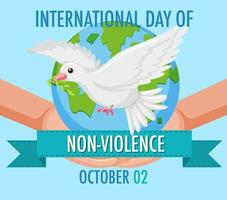 affiche de la journée internationale de la non-violence