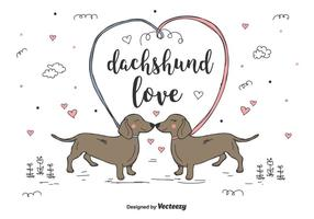 Dachshund Love Vector