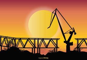 Illustration de chantier naval vecteur