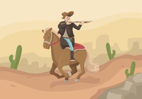 Illustration vectorielle cavalier cavalier