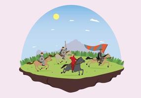 Illustration de cheval d'équitation de cavalerie