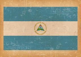 Drapeau grunge du nouveau Nicaragua vecteur