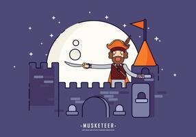 Masketeer Kingdom Guard Illustration Vectorisée vecteur