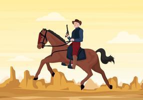 Illustration vectorielle de soldat de cavalerie