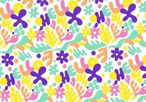 Modèle floral abstraite vecteur
