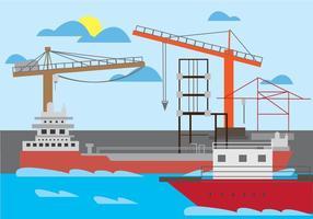Illustration Vectorielle du chantier naval vecteur