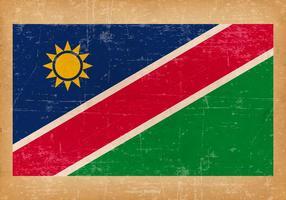 Drapeau grunge de la Namibie vecteur