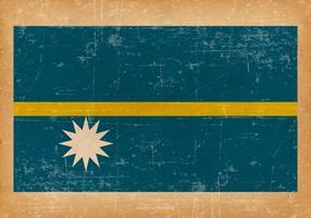 Drapeau grunge de Nauru vecteur
