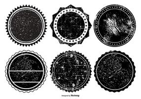Collection de badge grunge vecteur