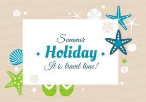 Carte de voeux heureuse d'été de conception gratuite