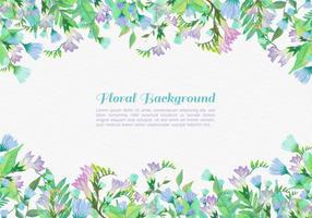 Fonds de fleurs peintes à vecteur gratuit