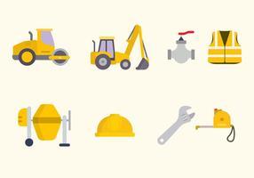 Vecteurs de construction de routes plates vecteur