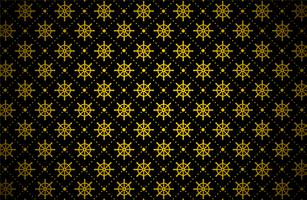 motif de roue de navire doré foncé