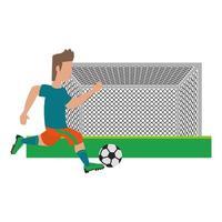 joueur de football de scène sportive