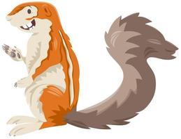 caractère animal sauvage de dessin animé écureuil xerus vecteur