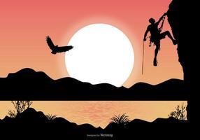 Illustration de paysage alpiniste vecteur