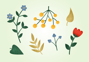 Éléments naturels Grainy gratuits vecteur