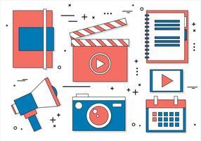 Free Flat Design Vector Digital Media Icons