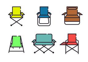 Vecteur de chaise à gazon minimaliste