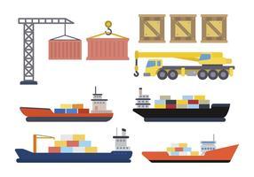 Vecteurs Logistiques d'Emballage Plats