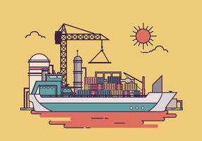 Illustration du vecteur de fret de chantier naval