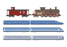 Vecteurs de train plat vecteur