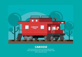 Illustration de caboose vecteur