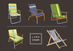 Ensemble vectoriel de chaise à gazon