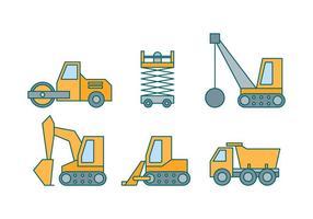 Vecteurs d'équipement de construction gratuits vecteur