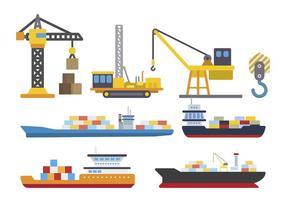 Vecteurs logistiques du chantier naval