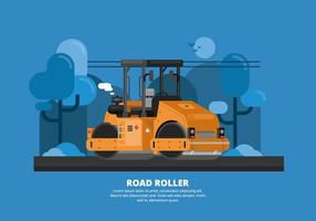 Illustration du rouleau routier vecteur