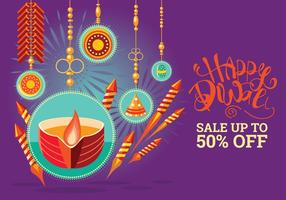Colorful Firecracker pour Diwali Holiday Fun vecteur
