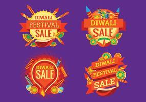Pétard coloré pour célébration de la vente Diwali vecteur