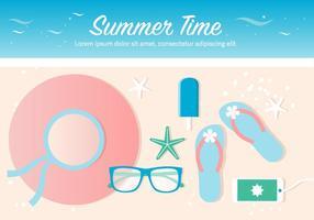 Vecteur libre design temps d'été