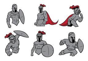 Vecteur de la mascotte des chevaliers