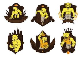 Vecteur gratuit de mascotte d'insigne Cougars